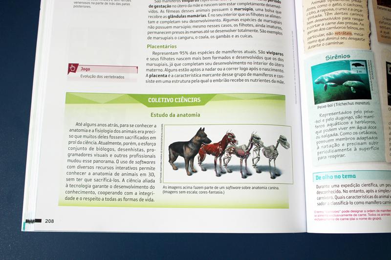 software anatomia em livro didático